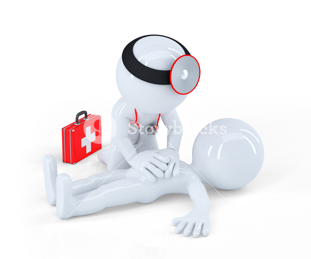 Doctor Providing First Aid