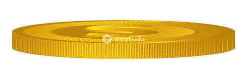 Dollar Sign Gold Coin Vector Design