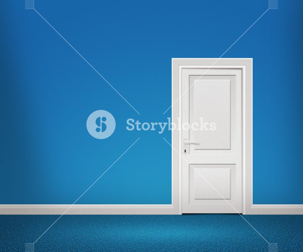 Door In The Blue Wall