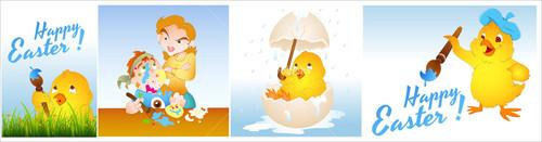 Easter Elements Vectors
