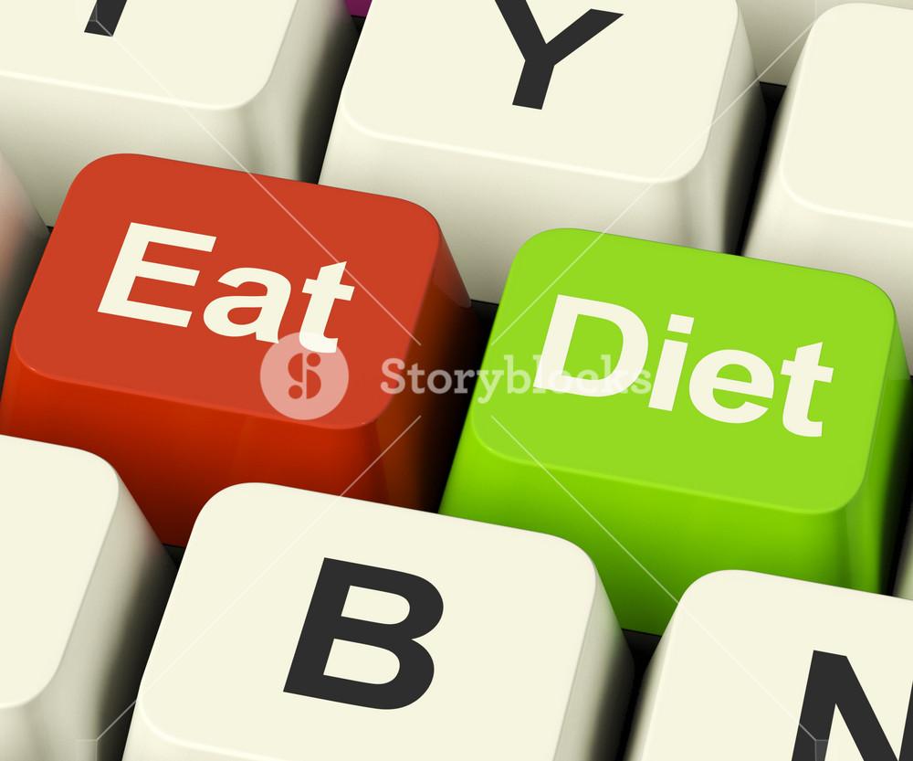 Eat Diet Keys Showing Fiber Exercise Fat And Calories Advice Online