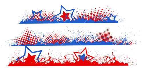 Edges And Borders Set Patriotic Usa Theme Vector