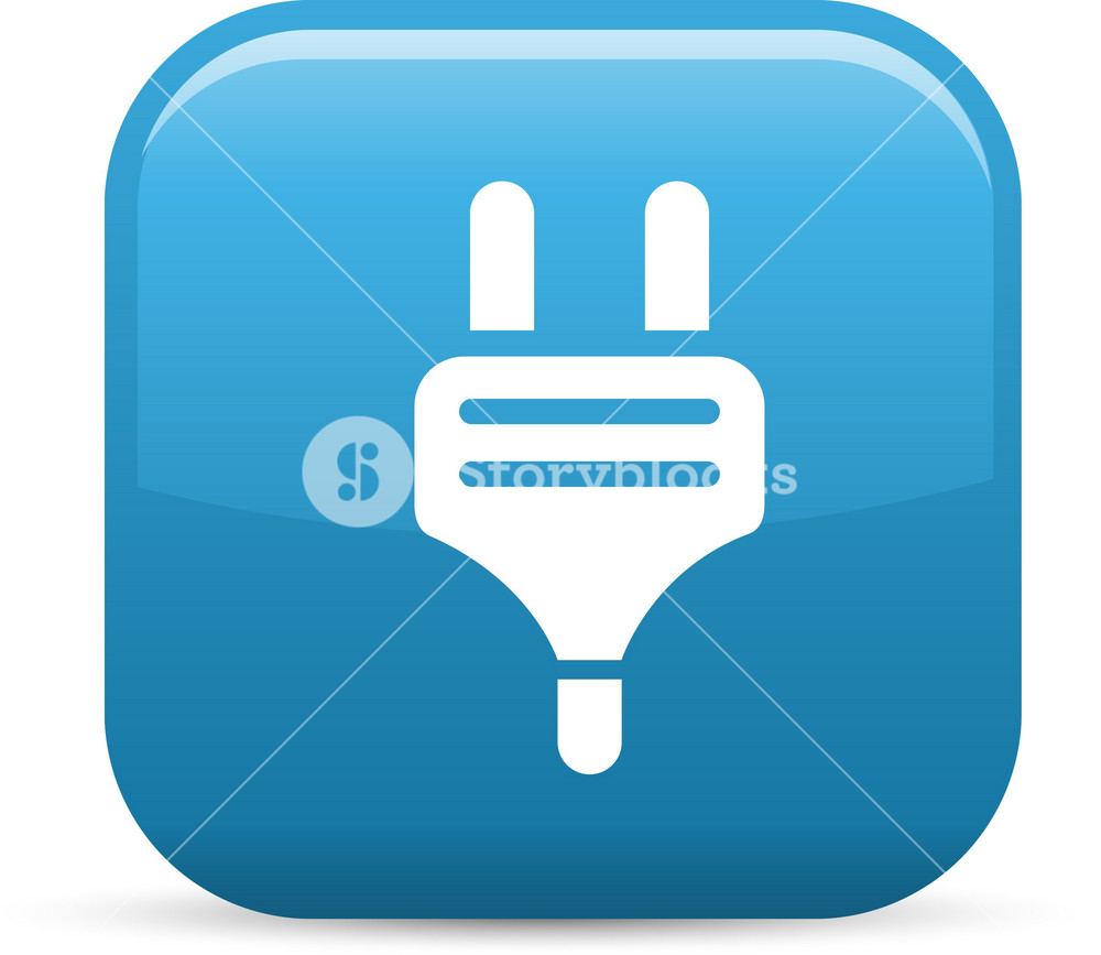 Electric Plug Elements Glossy Icon