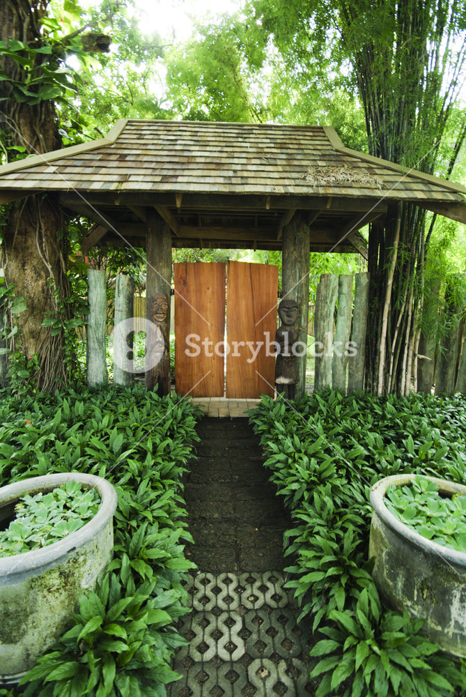 Entrance of a typical residential house Thailand