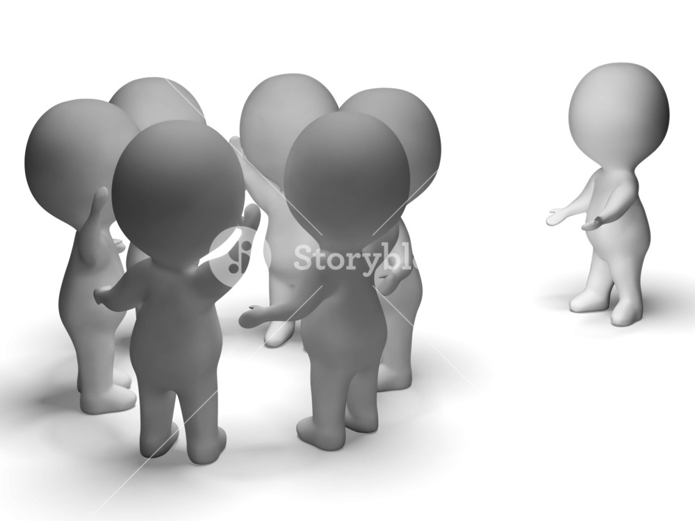 Excluded From Group 3d Character Shows Bullying