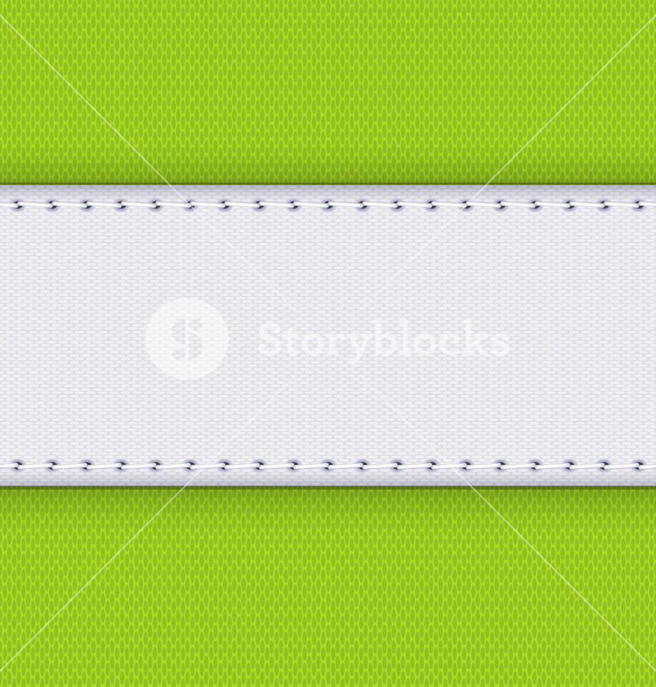 Fabric And Seam Vector Background.