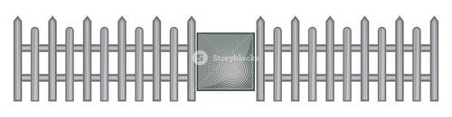 Fence With Door