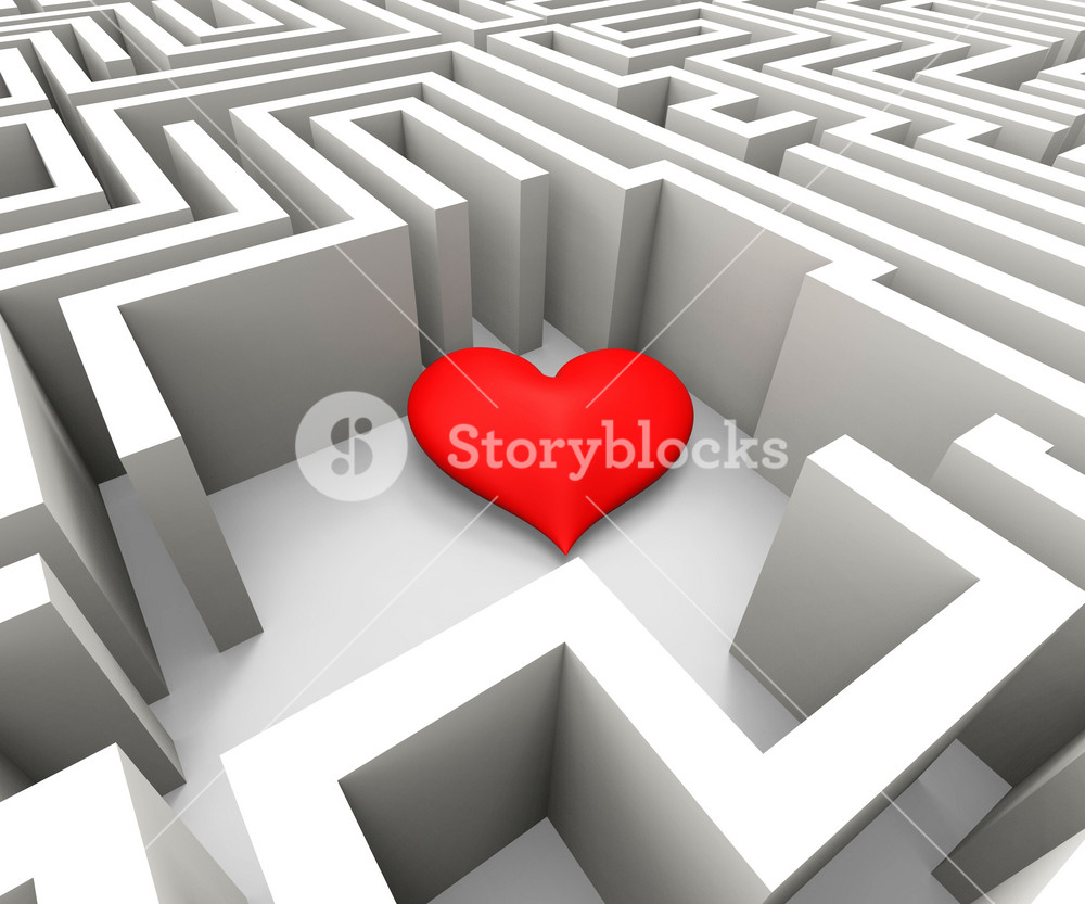Finding Love Shows Heart In Maze