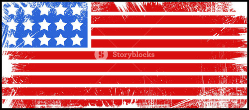 Flag Us 4th Of July Independence Day Vector Design