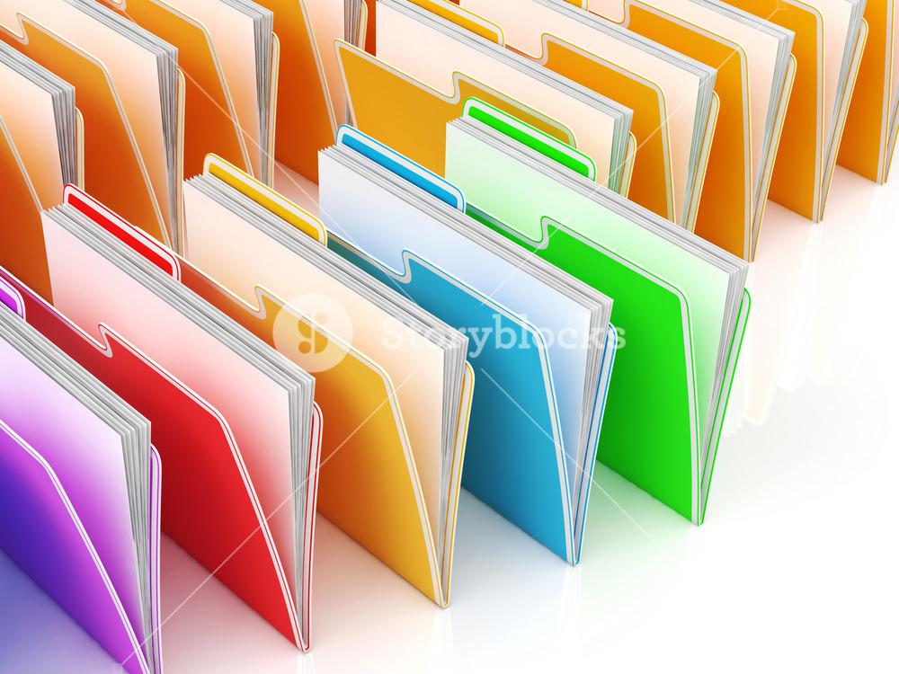 Folders Showing Organizing And Data