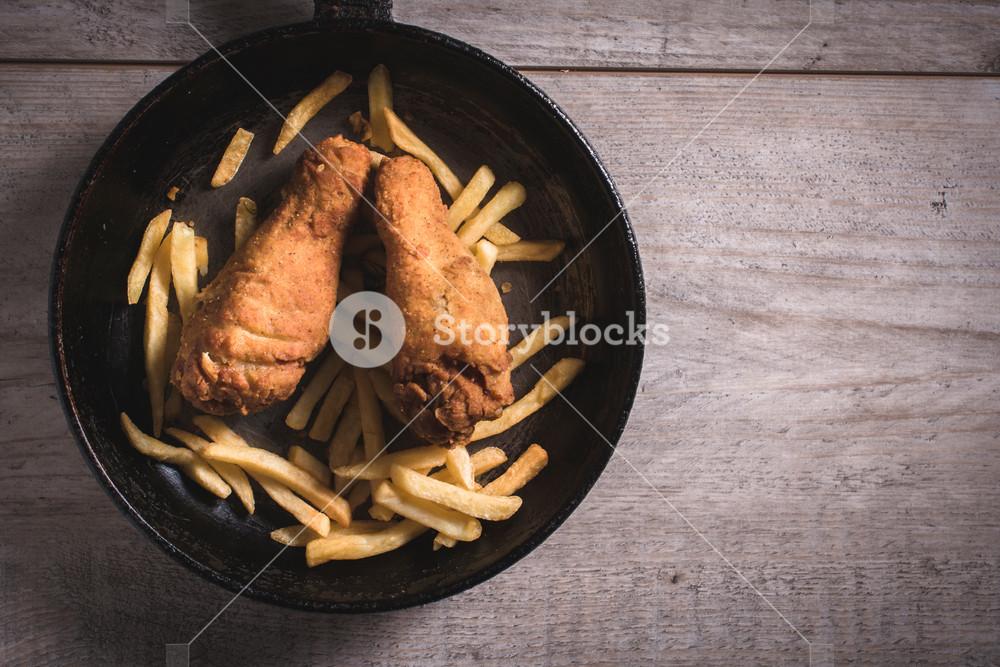 Fried Food In The Pan