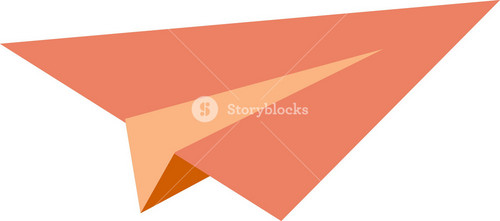 Funky Paper Airplane Icon
