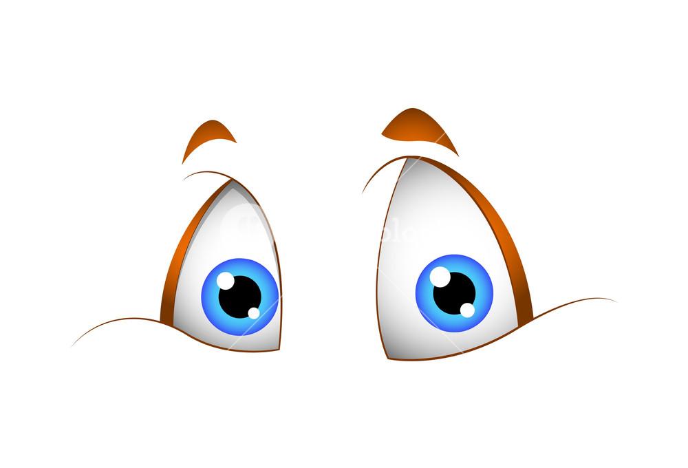 Funny Cartoon Eyes Vector Illustration