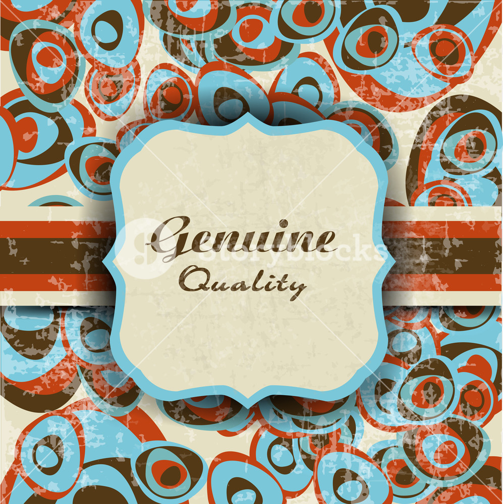 Genuine Quality Colorful Labels With Retro Design And Ribbon