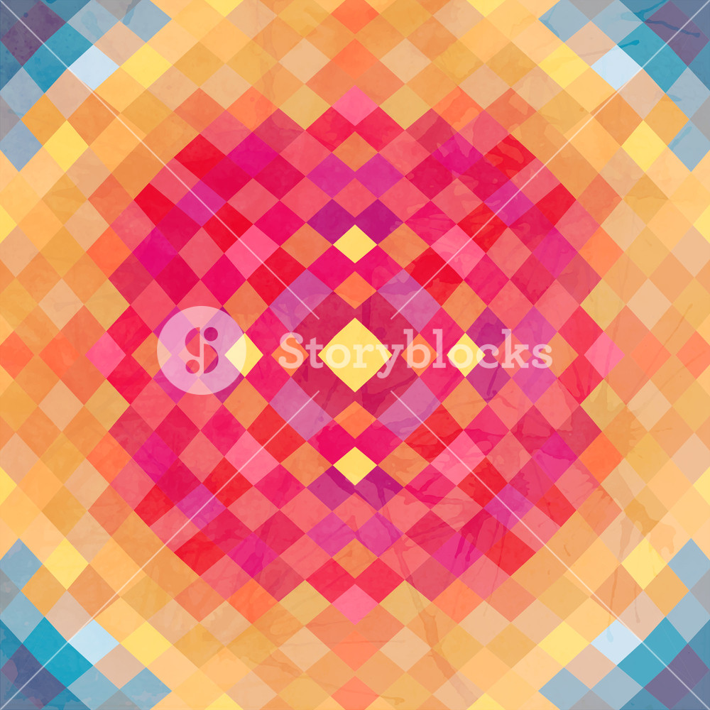 Geometric Vector Backdrop Of Geometric Shapes. Colorful Mosaic Banner. Geometric Hipster Retro Background With Place For Your Text. Retro Triangle Background