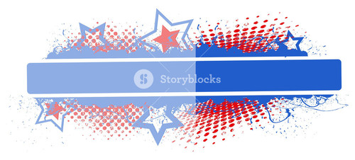 Glossy Retro Banner 4th Of July Vector Theme Design