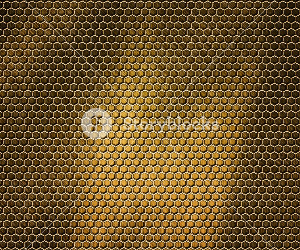 Golden Hex Metal Background