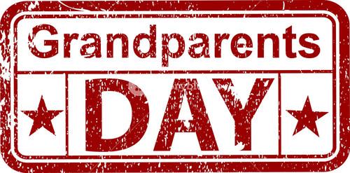 Grandparents Day Grunge Stamp