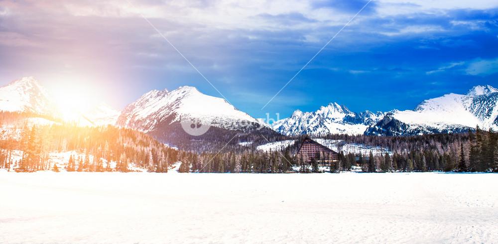 Beautiful Winter Mountain Landscape With Sun High Tatras Slovakia Royalty Free Stock Image Storyblocks