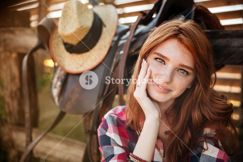 pretty young redhead cowgirl