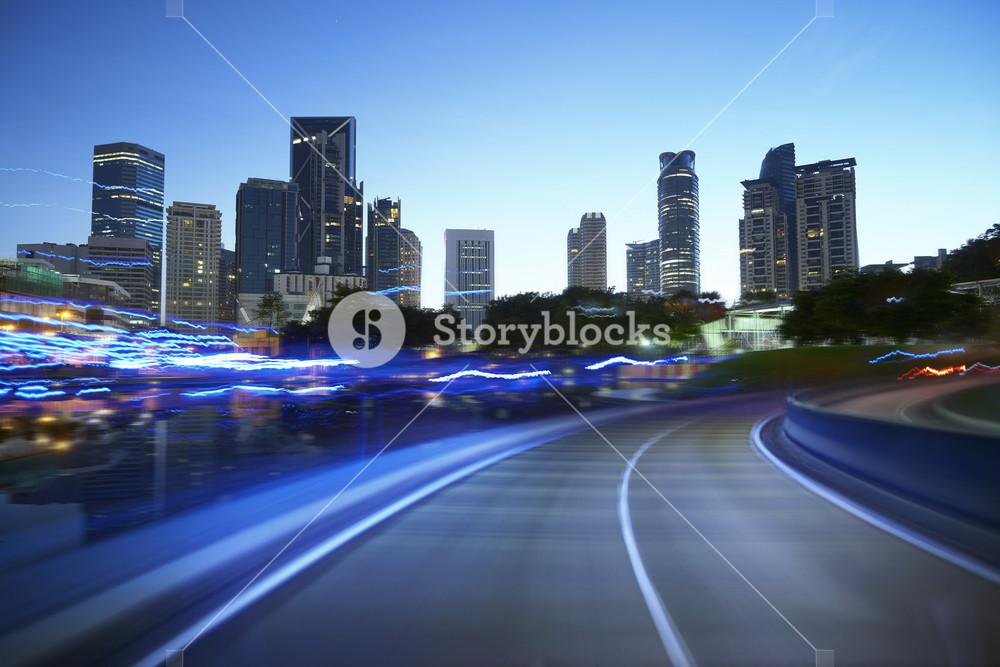 moving forward motion blur background,night scene