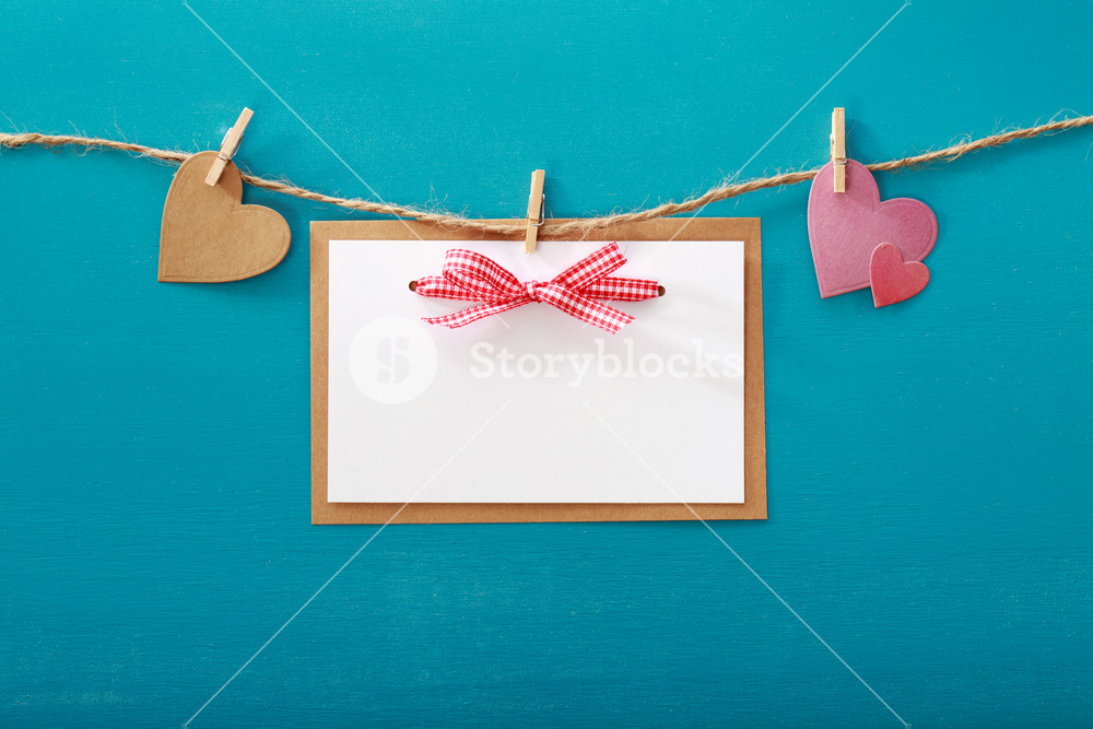 Valentine's day theme with greeting card