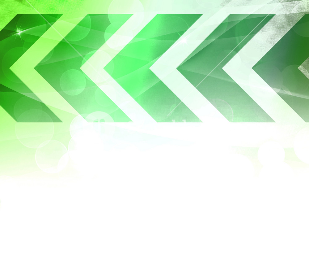 Green Abstract Arrows Background
