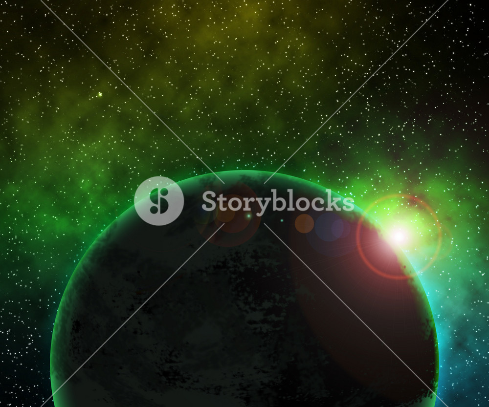 Green Planet Space Background Royalty Free Stock Image Storyblocks