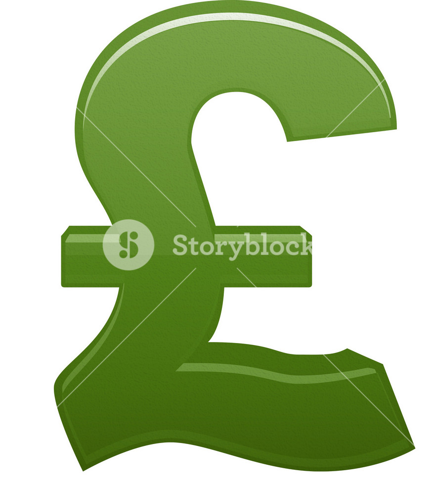 Green Pound Currency Symbol