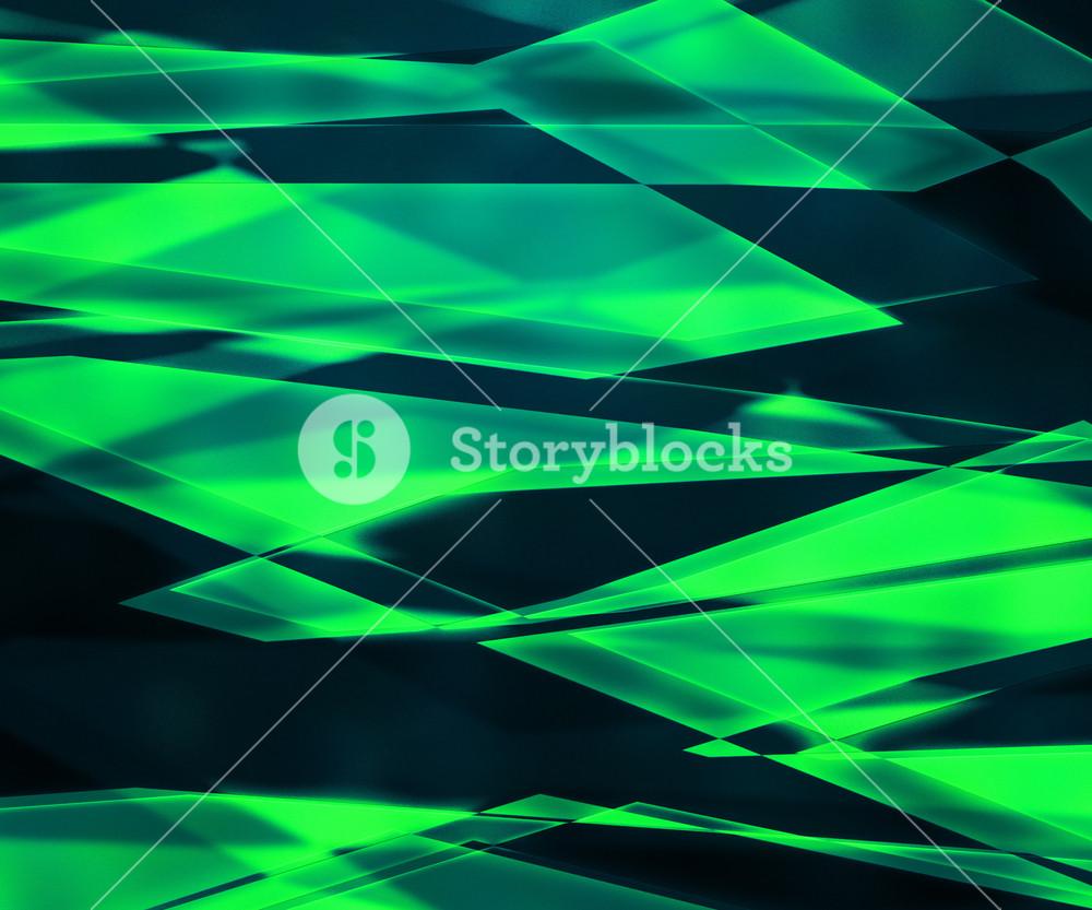 Green Sharp Glass Texture
