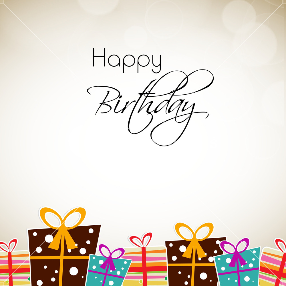 Greeting Card Or Background For Birthday Celebration Royalty-Free