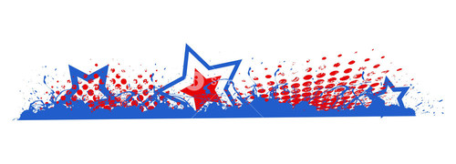 Grunge 4th Of July Vector Theme Design Border Edge