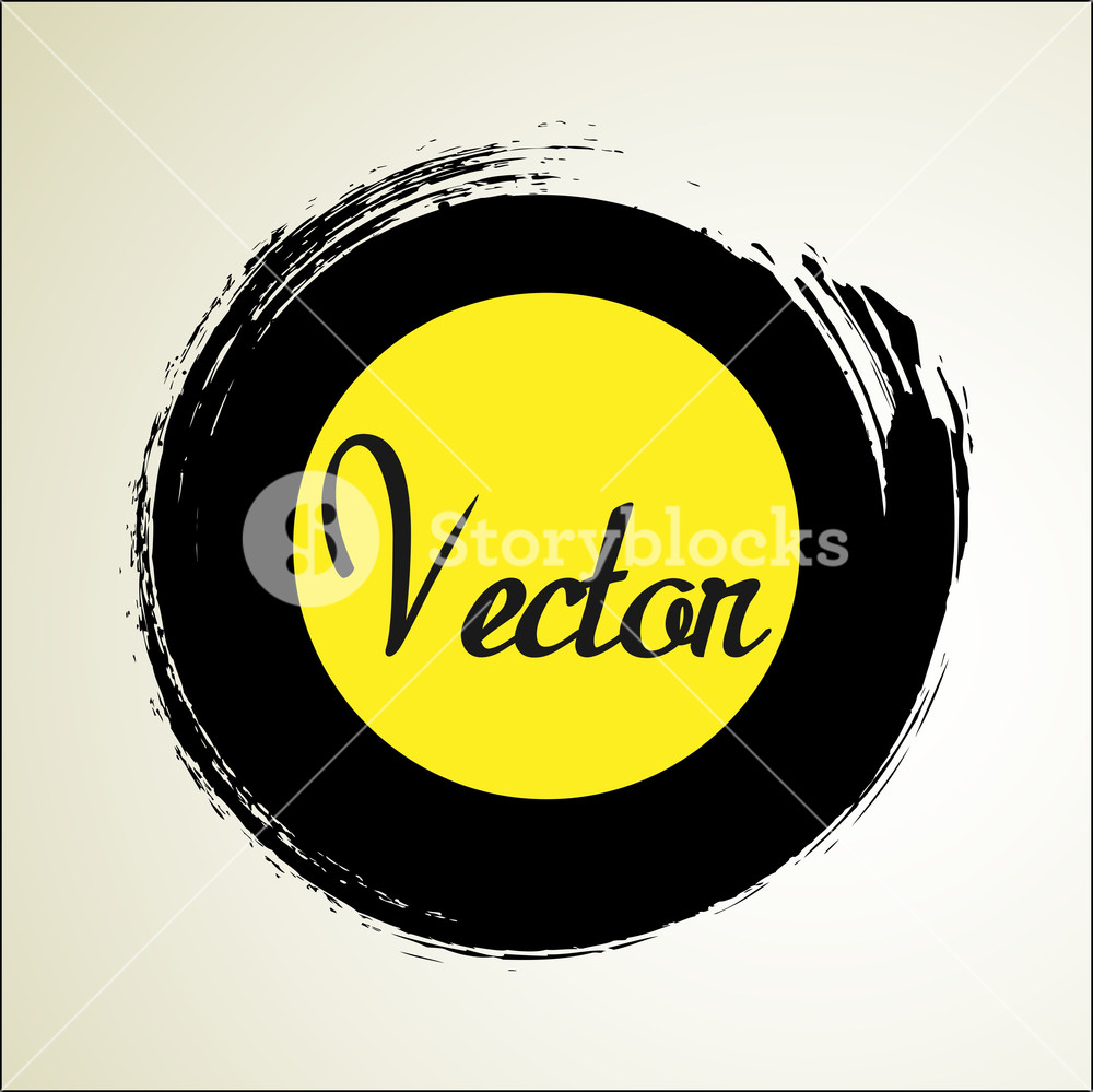 Grunge Circle Banner Vector