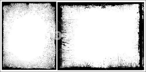 Grunge Edges Frames Vector