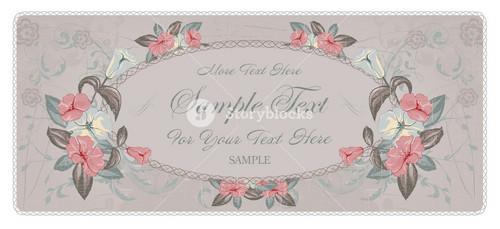 Grunge Floral Invitation Vector Illustration