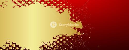 Grunge Halftone Golden Banner