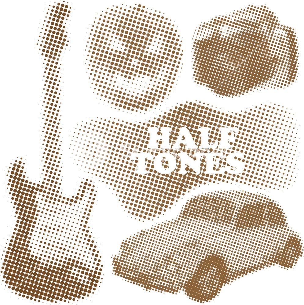 Halftone Objects Set