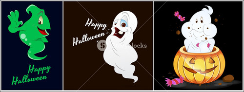 Halloween Ghost Vectors