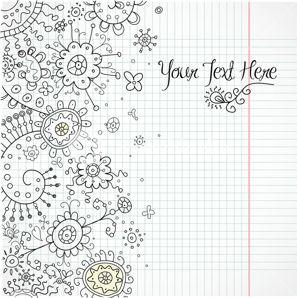 Hand-drawn Abstract Henna Doodles And Flowers Vector Illustration-image Id: 43944778