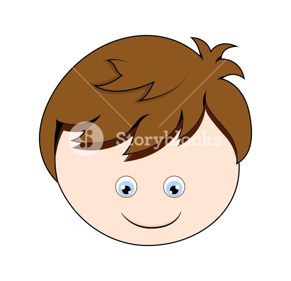 Happy Cartoon Boy Face Vector Royalty Free Stock Image Storyblocks