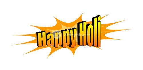 Happy Holi Text Banner