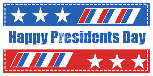 Happy Presidents Day Banner Flag Vector