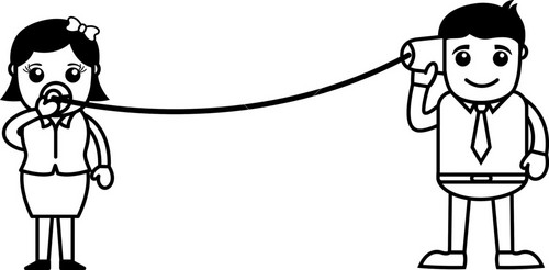 Helpline - Connecting Concept - Vector Illustration