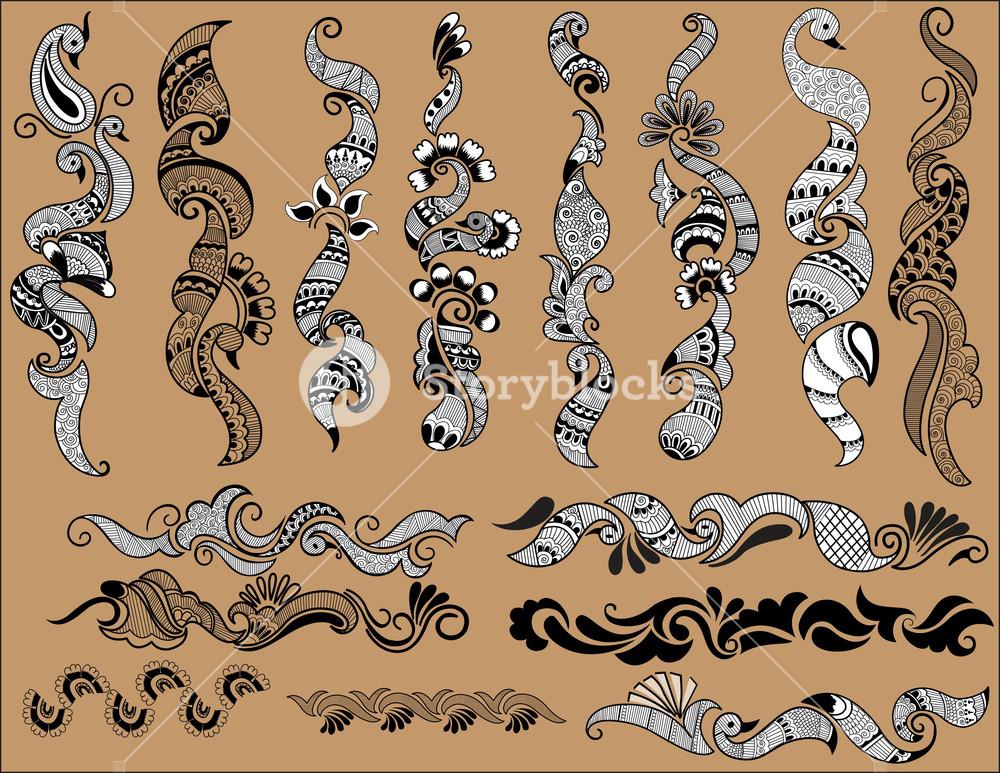 Henna Vectors Designs