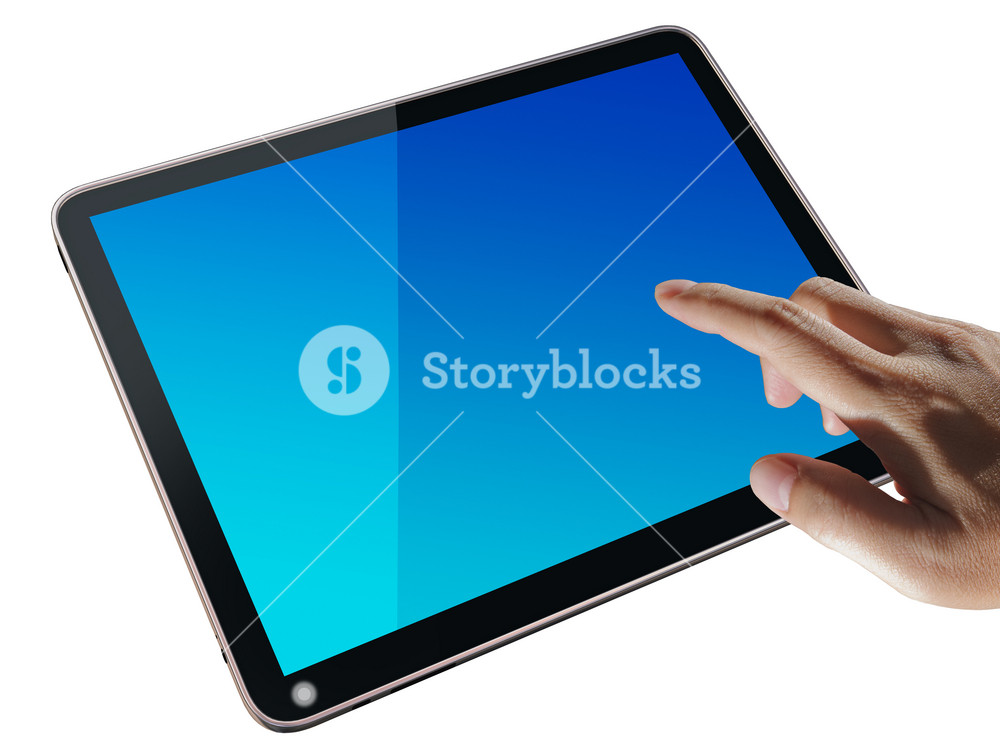 High-detailed Tablet Pc On White Background, 3d Render