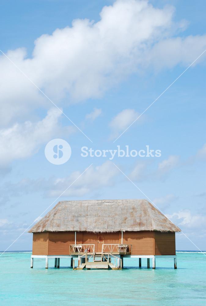 Honeymoon Villa In Maldives (clouscape Background)