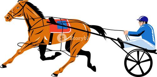 Horse And Jockey Harness Racing