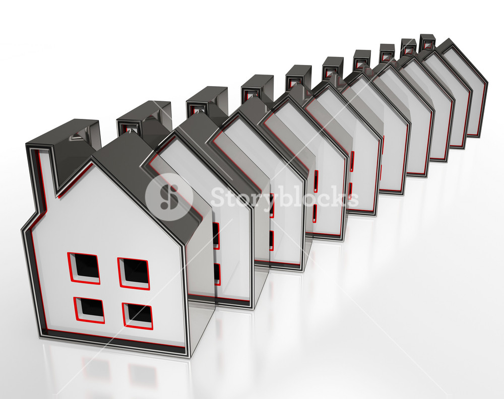 House Symbols Displaying Houses For Sale
