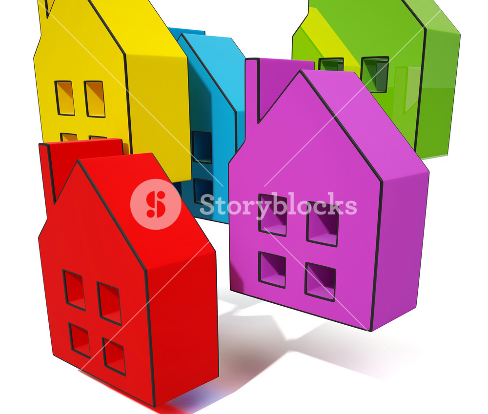 House Symbols Shows Houses For Sale