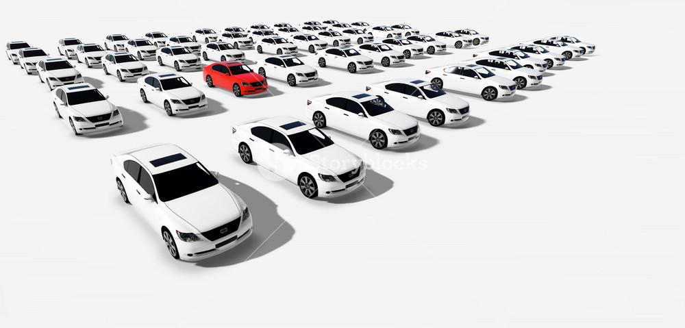 Hundreds Of Cars